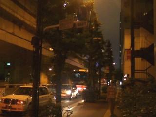 夜の甲州街道
