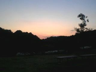 黒川海道谷戸夕景