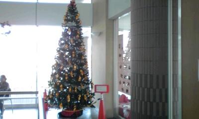 マンションにクリスマスツリー